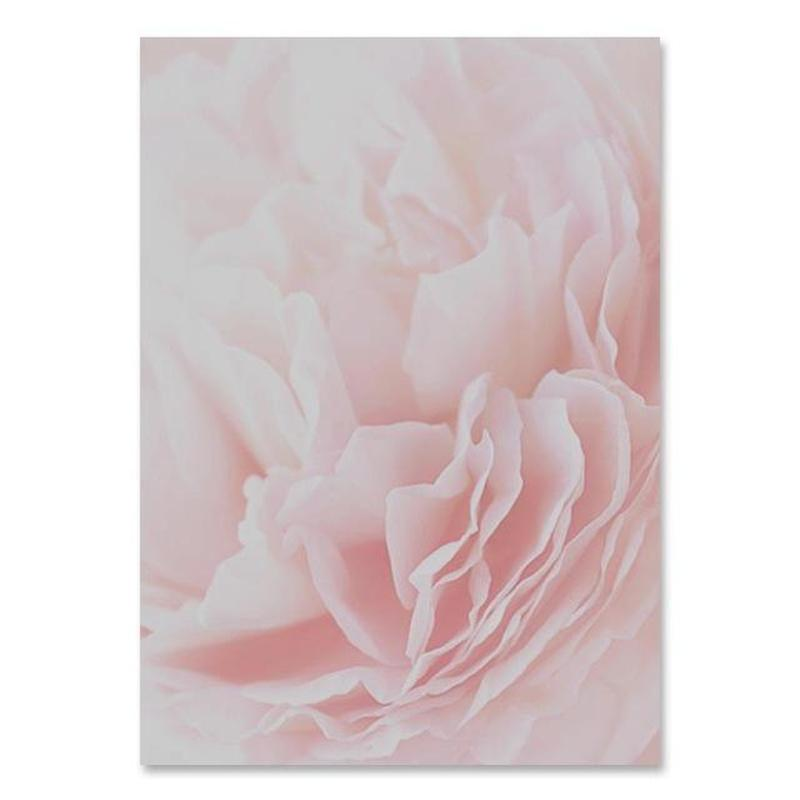 Flowers And Beauty Canvas Prints-Heart N' Soul Home-30x40 cm no frame-Soft Pink Flower-Heart N' Soul Home