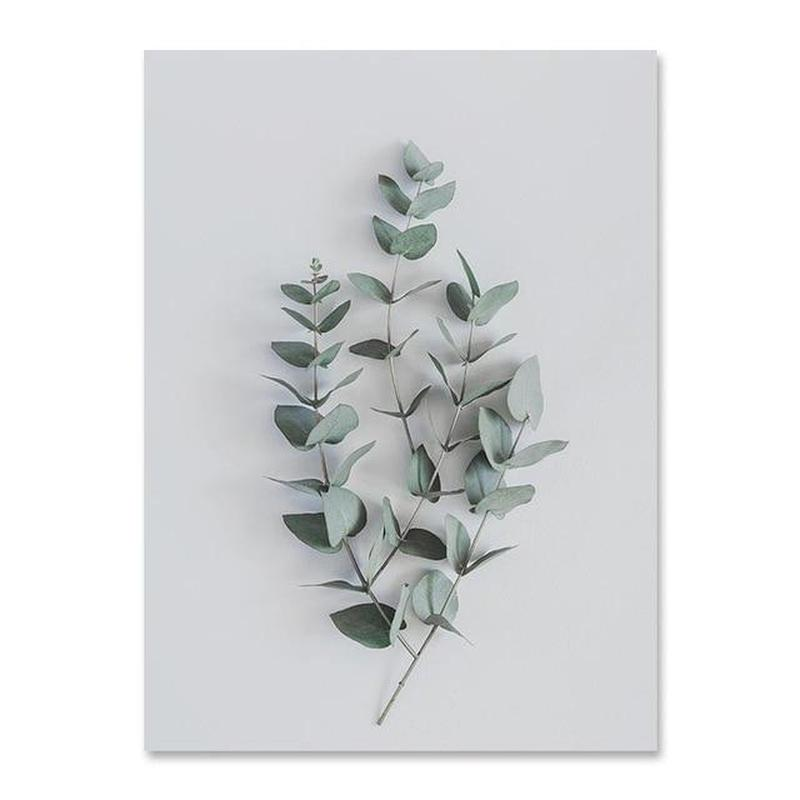 Flowers And Beauty Canvas Prints-Heart N' Soul Home-40x50 cm no frame-Eucalyptus-Heart N' Soul Home