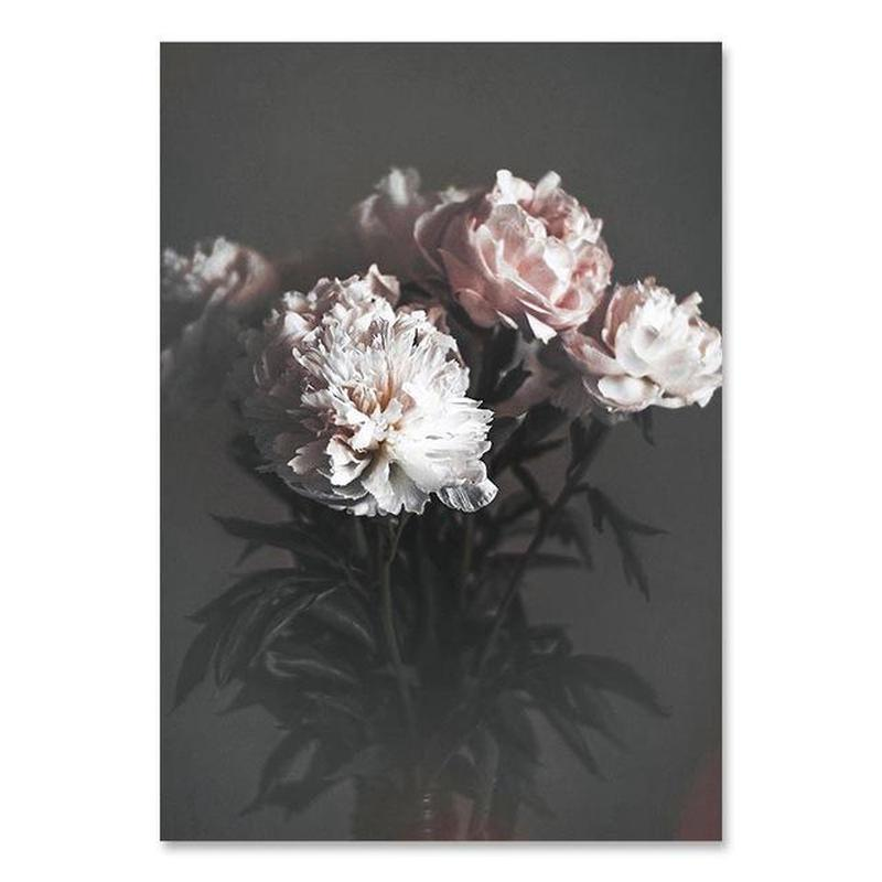 Flowers And Beauty Canvas Prints-Heart N' Soul Home-60x80 cm no frame-White And Dusty Pink Flowers-Heart N' Soul Home