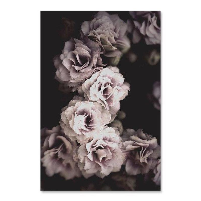 Flowers And Beauty Canvas Prints-Heart N' Soul Home-60x90 cm no frame-Dusty Pink Flowers-Heart N' Soul Home