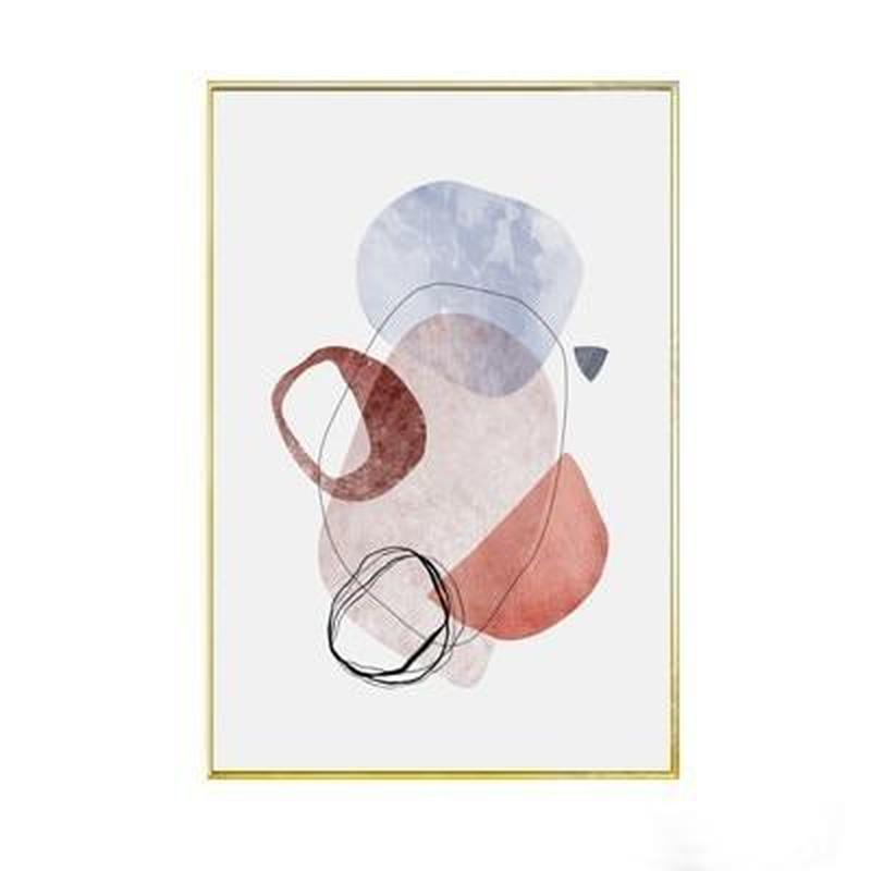 Geometric Art Abstract and Typographic Canvas Prints-Heart N' Soul Home-10x15 cm no frame-B-Heart N' Soul Home