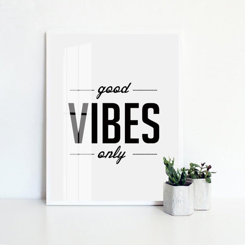 Good Vibes Only Canvas Painting Print-Heart N' Soul Home-15x20cm No frame-Heart N' Soul Home