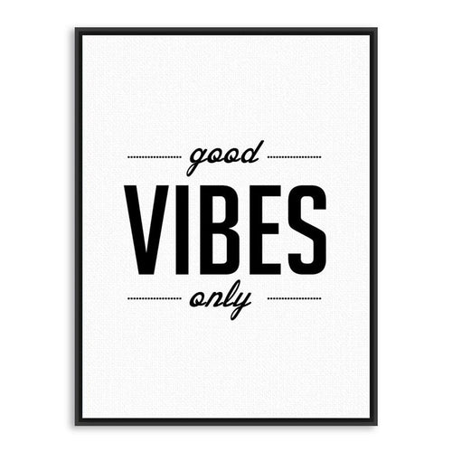 Good Vibes Only Canvas Painting Print-Heart N' Soul Home-Heart N' Soul Home