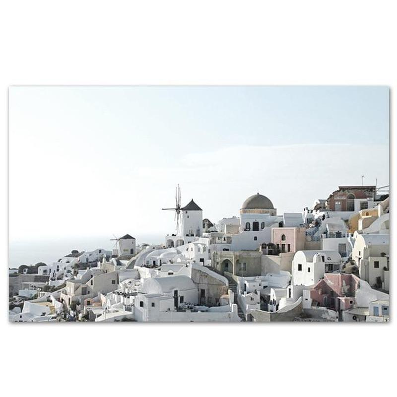 Greek Island Canvas Prints-Heart N' Soul Home-Heart N' Soul Home