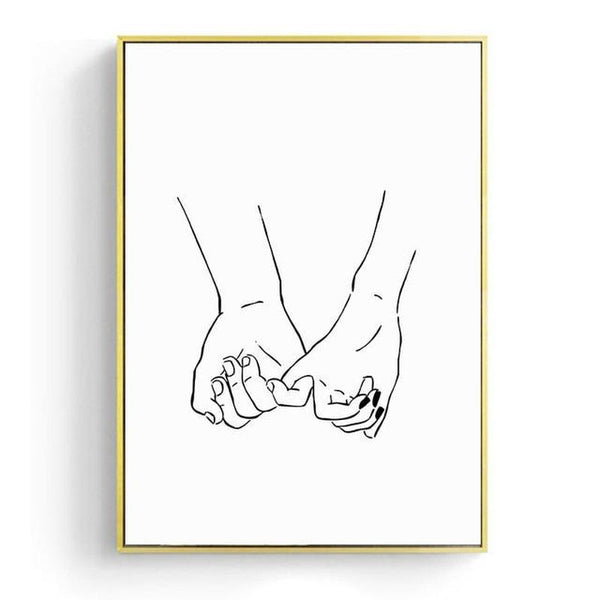 Hello Lover Nordic Minimalist Canvas Prints-Heart N' Soul Home-15x20cm No frame-Pinky Promise-Heart N' Soul Home