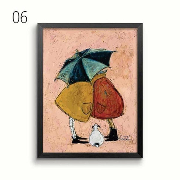 Her Favourite Cloud Art Canvas Painting Prints-Heart N' Soul Home-13x18 cm no frame-06-Heart N' Soul Home