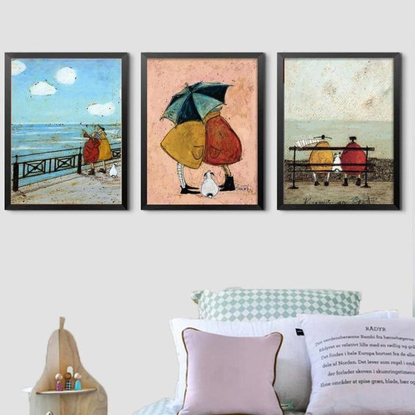 Her Favourite Cloud Art Canvas Painting Prints-Heart N' Soul Home-Heart N' Soul Home