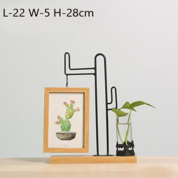 Idyllic Picture Frame Vase-Heart N' Soul Home-28cm Cactus-Heart N' Soul Home