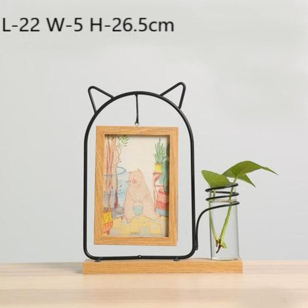 Idyllic Picture Frame Vase-Heart N' Soul Home-Fat Cat Yellow-Heart N' Soul Home