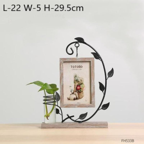 Idyllic Picture Frame Vase-Heart N' Soul Home-Gray Totoro-Heart N' Soul Home