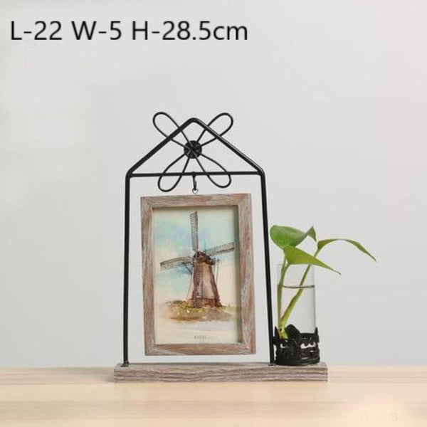 Idyllic Picture Frame Vase-Heart N' Soul Home-Windmill House-Heart N' Soul Home