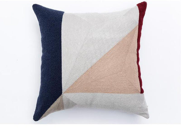 Kara Embroidered Cushion Cover-Heart N' Soul Home-45 x 45 cm Insert Only-Heart N' Soul Home