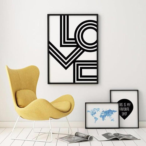 LOVE Canvas Painting Prints-HeartnSoulHome-Heart N' Soul Home
