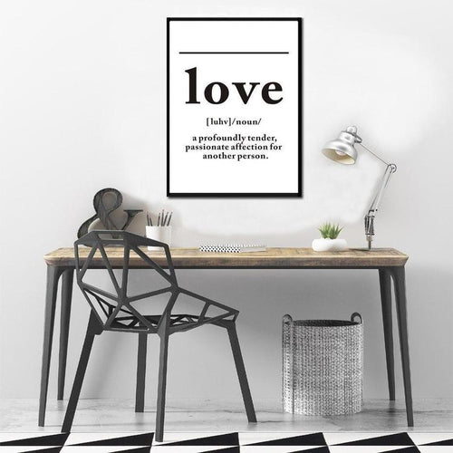 LOVE Definition Canvas Painting Prints-HeartnSoulHome-10x15 cm no frame-LOVE-Heart N' Soul Home