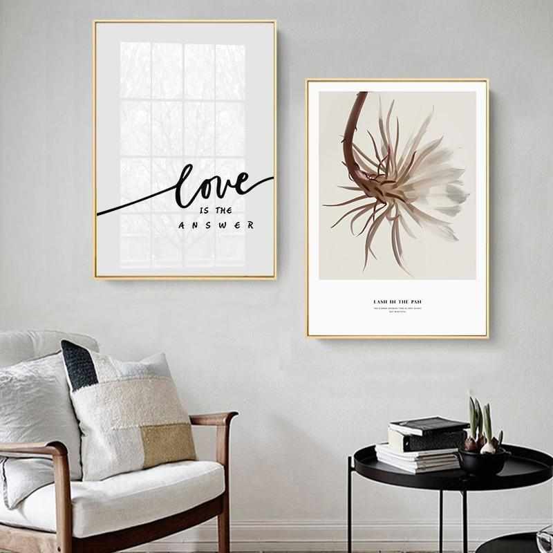Love Is The Answer Girl Portrait Canvas Painting Prints-Heart N' Soul Home-Heart N' Soul Home