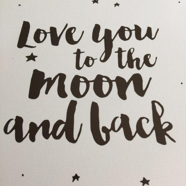 Love You to The Moon and Back Wall Art Canvas Painting Prints-HeartnSoulHome-Heart N' Soul Home