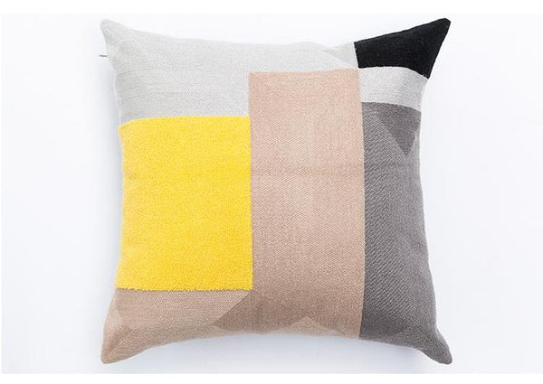 Maisie Embroidered Cushion Cover-Heart N' Soul Home-45 x 45 cm No Insert-Heart N' Soul Home