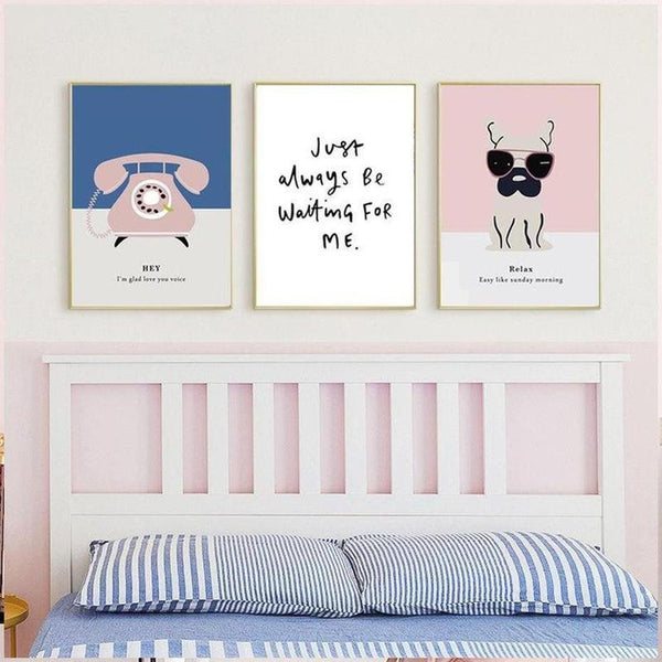 Modern Art Typography Canvas Painting Prints-Heart N' Soul Home-Heart N' Soul Home