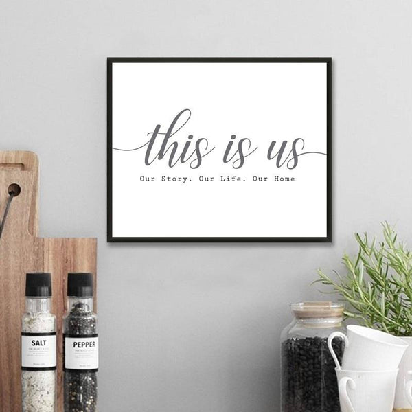 Modern Our Story Our Life Our Home Canvas Prints-Heart N' Soul Home