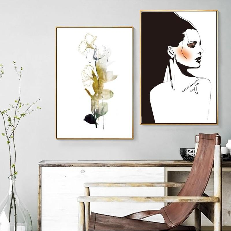 Monica And Golden Flower Canvas Prints-Heart N' Soul Home-Heart N' Soul Home