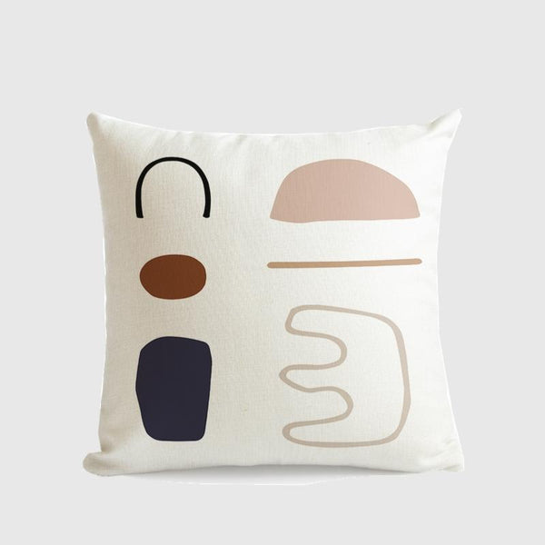 Morandi Colour Art Series Cushion Cover Lyric-Heart N' Soul Home-55????55 cm No Insert-Heart N' Soul Home