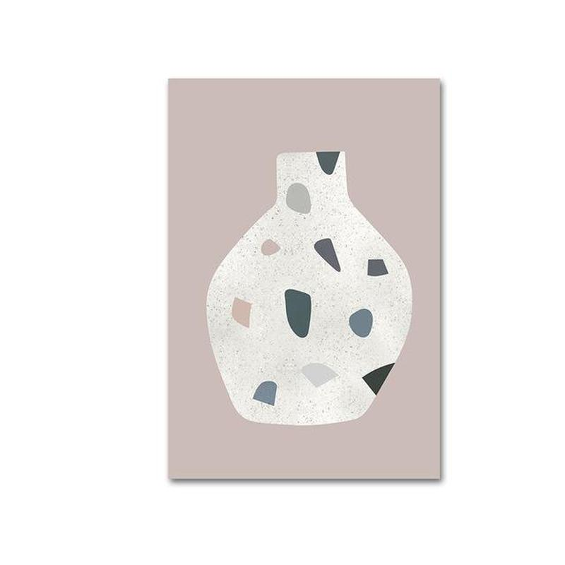 Morandi Nordic Classic Abstract Art Canvas Prints-Heart N' Soul Home-10x15cm no frame-Vase-Heart N' Soul Home