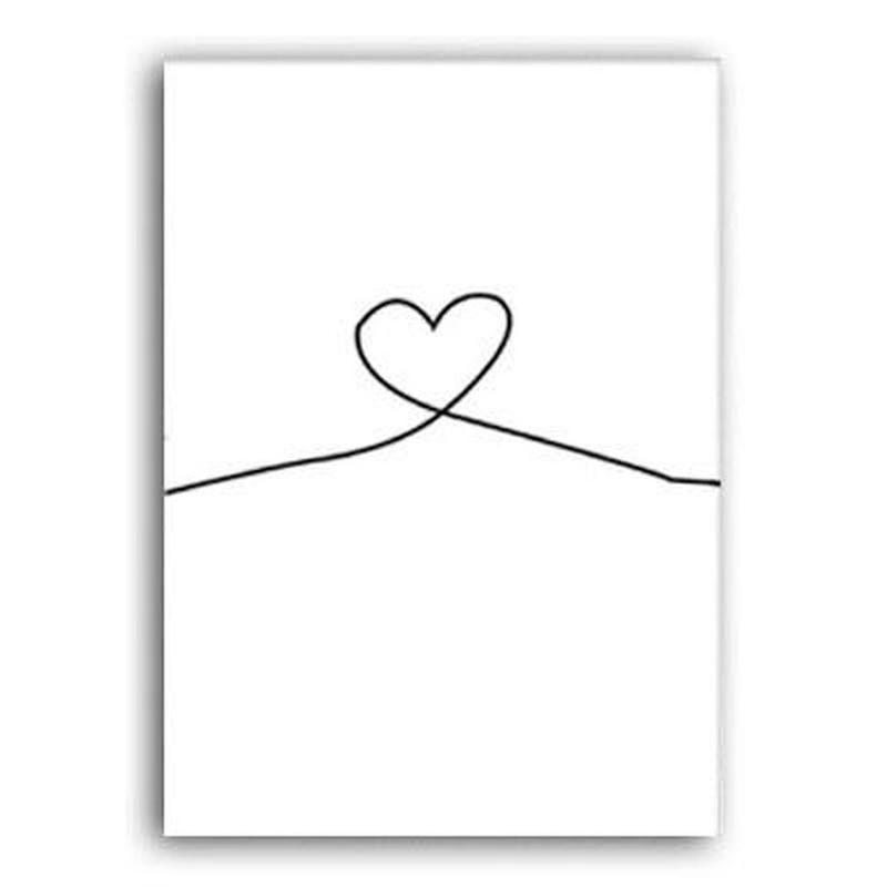 Mr and Mrs With Love Symbol Canvas Print-Heart N' Soul Home-40x60 cm no frame-Heart-Heart N' Soul Home