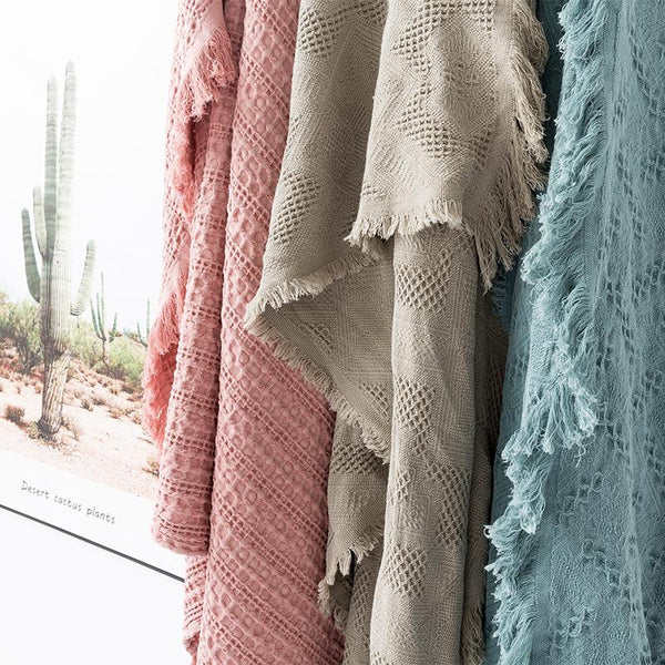 Myla Tassel Throw - 18 Designs-Heart N' Soul Home-Heart N' Soul Home