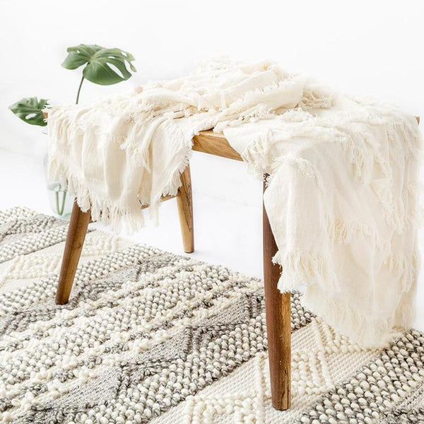 Myla Tassel Throw - 18 Designs-Heart N' Soul Home-WD-15-130x150CM-Heart N' Soul Home