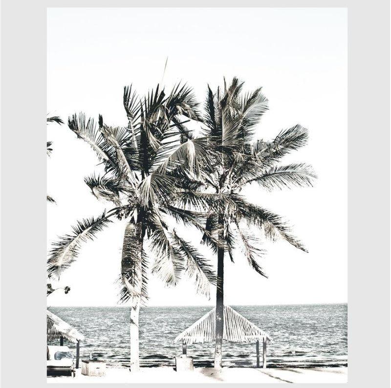 Palm Trees And Ocean Art Print-Heart N' Soul Home