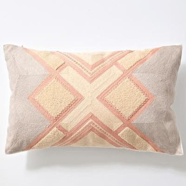 Nordic Geometric Art Embroidered Cushion Cover-Heart N' Soul Home-A 30x60cm-Heart N' Soul Home