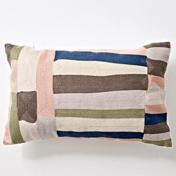 Nordic Geometric Art Embroidered Cushion Cover-Heart N' Soul Home-C 30x60cm-Heart N' Soul Home