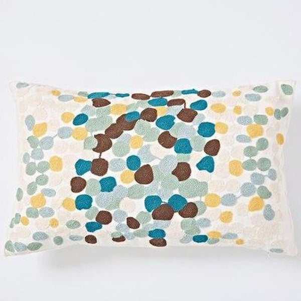 Nordic Geometric Art Embroidered Cushion Cover-Heart N' Soul Home-F 30x60cm-Heart N' Soul Home
