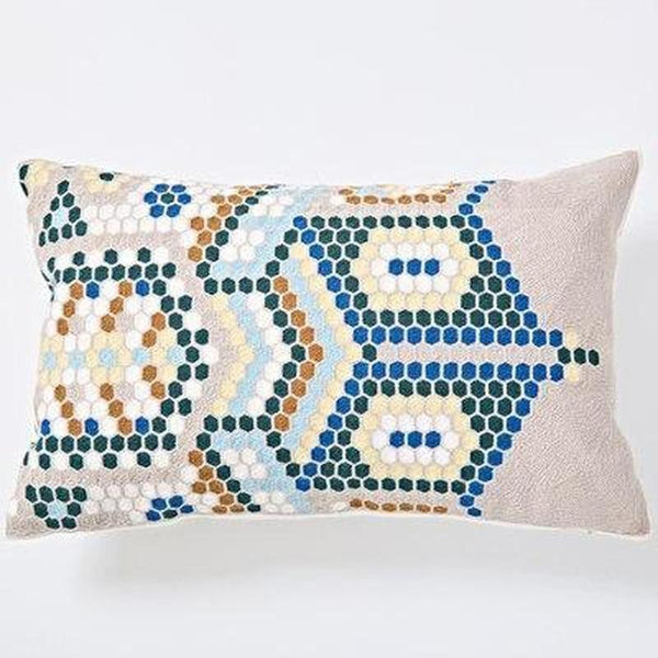 Nordic Geometric Art Embroidered Cushion Cover-Heart N' Soul Home-H 30x60cm-Heart N' Soul Home