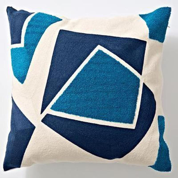 Nordic Geometric Art Embroidered Cushion Cover-Heart N' Soul Home-J 45x45cm-Heart N' Soul Home