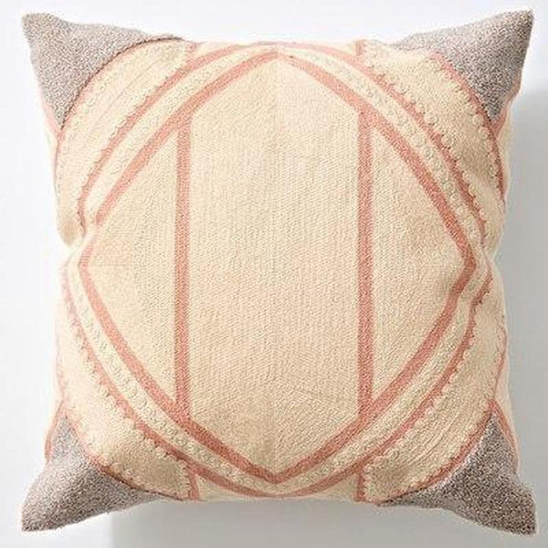 Nordic Geometric Art Embroidered Cushion Cover-Heart N' Soul Home-K 45x45cm-Heart N' Soul Home