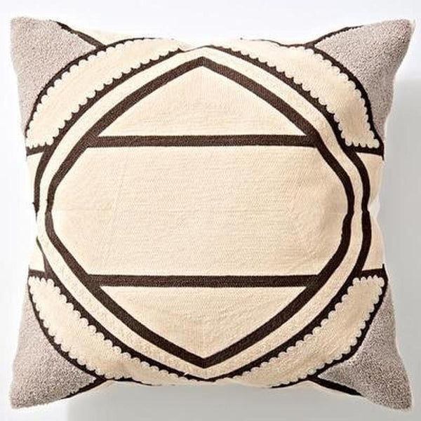 Nordic Geometric Art Embroidered Cushion Cover-Heart N' Soul Home-L 45x45cm-Heart N' Soul Home