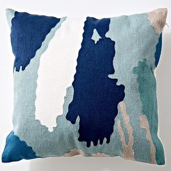 Nordic Geometric Art Embroidered Cushion Cover-Heart N' Soul Home-N 45x45cm-Heart N' Soul Home