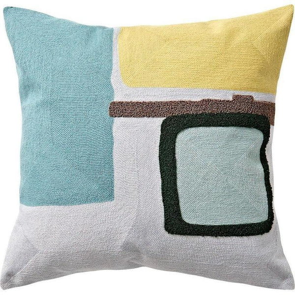 Nordic Geometric Art Embroidered Cushion Cover-Heart N' Soul Home-O 45x45cm-Heart N' Soul Home