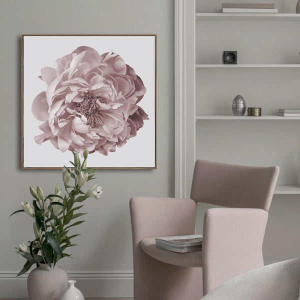 Nordic Large Peony Flower Canvas Print-Heart N' Soul Home-15x20cm no frame-Heart N' Soul Home