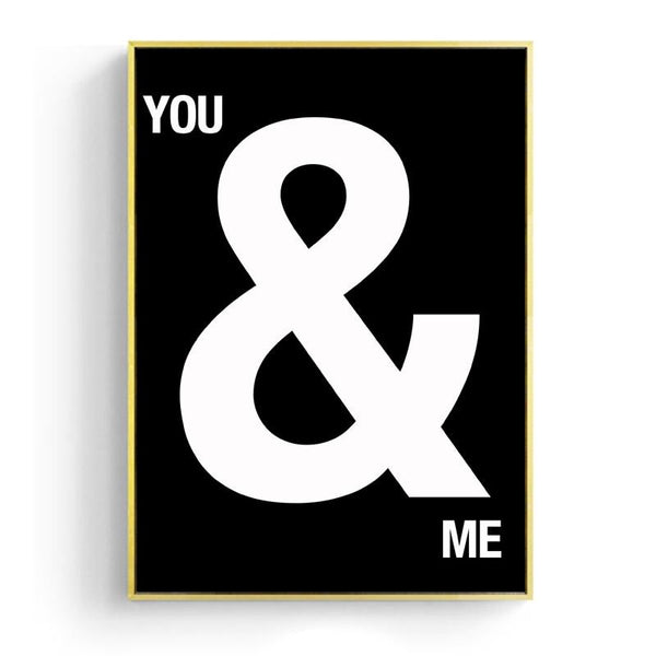Nordic You & Me Canvas Prints-Heart N' Soul Home-15x20cm No frame-You & Me-Heart N' Soul Home