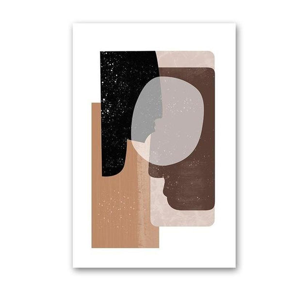 On The Way Vintage Scandinavia Geometric Abstract Canvas Painting Prints-Heart N' Soul Home-A4 21x30 cm no frame-Abstract Shape 2-Heart N' Soul Home