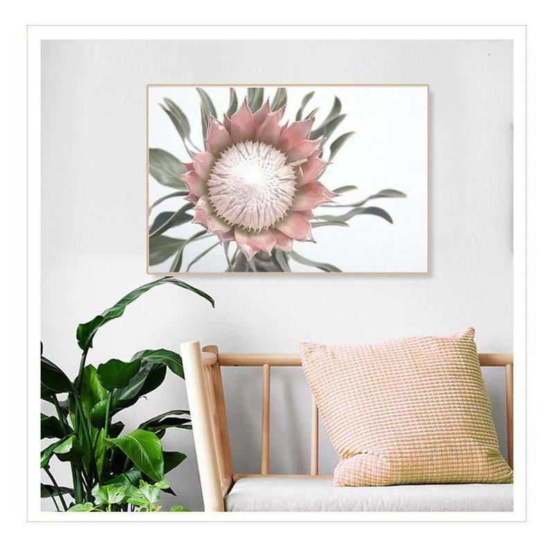 Pink King Protea Series Design D Canvas Prints-Heart N' Soul Home-Heart N' Soul Home
