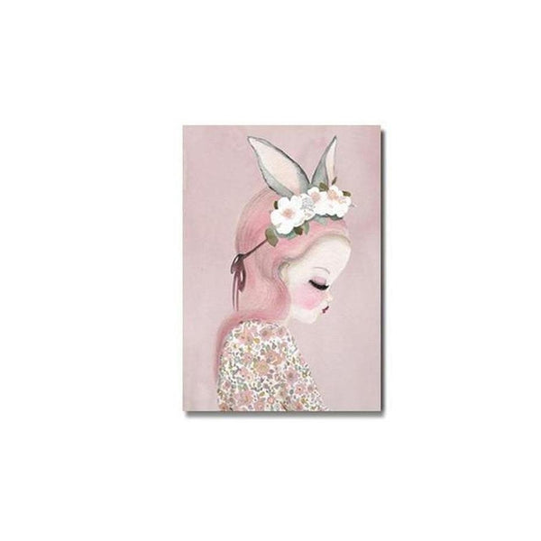 Pink Unicorn / Girl Canvas Painting Prints-Heart N' Soul Home-10x15cm no frame 2-girl-Heart N' Soul Home