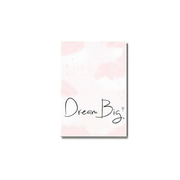 Pink Unicorn / Girl Canvas Painting Prints-Heart N' Soul Home-10x15cm no frame-dream big-Heart N' Soul Home