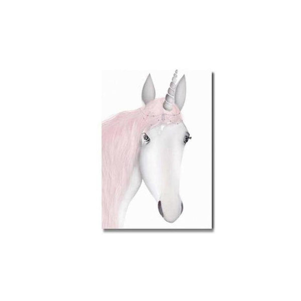 Pink Unicorn / Girl Canvas Painting Prints-Heart N' Soul Home-10x15cm no frame-unicorn-Heart N' Soul Home