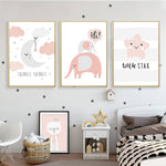Hello Little One Nursery And Kids Room Canvas Prints-Heart N' Soul Home