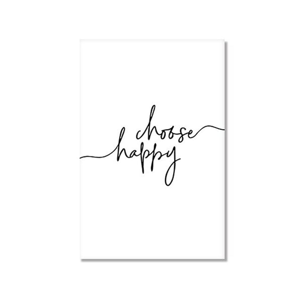 Happiness Minimalist Abstract Figure Art Prints-Heart N' Soul Home
