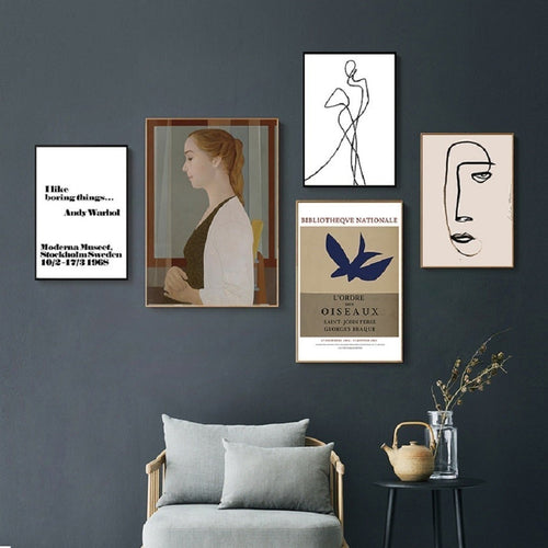 L'ordre Abstract Gallery Art Prints-Heart N' Soul Home