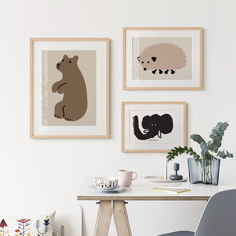 Woodland Animals Nursery And Kids Room Canvas Prints-Heart N' Soul Home